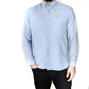 Men's Casual Light Blue Button Down Shirt